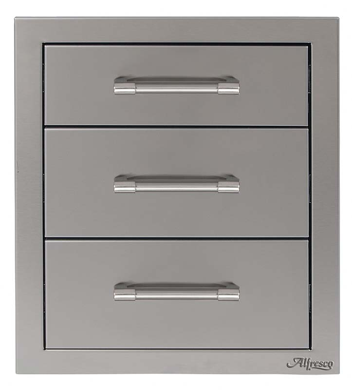 "Alfresco 17"" Triple Access Drawers"