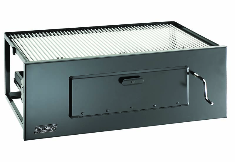 FireMagic Lift-A-Fire Built-In Charcoal Grill