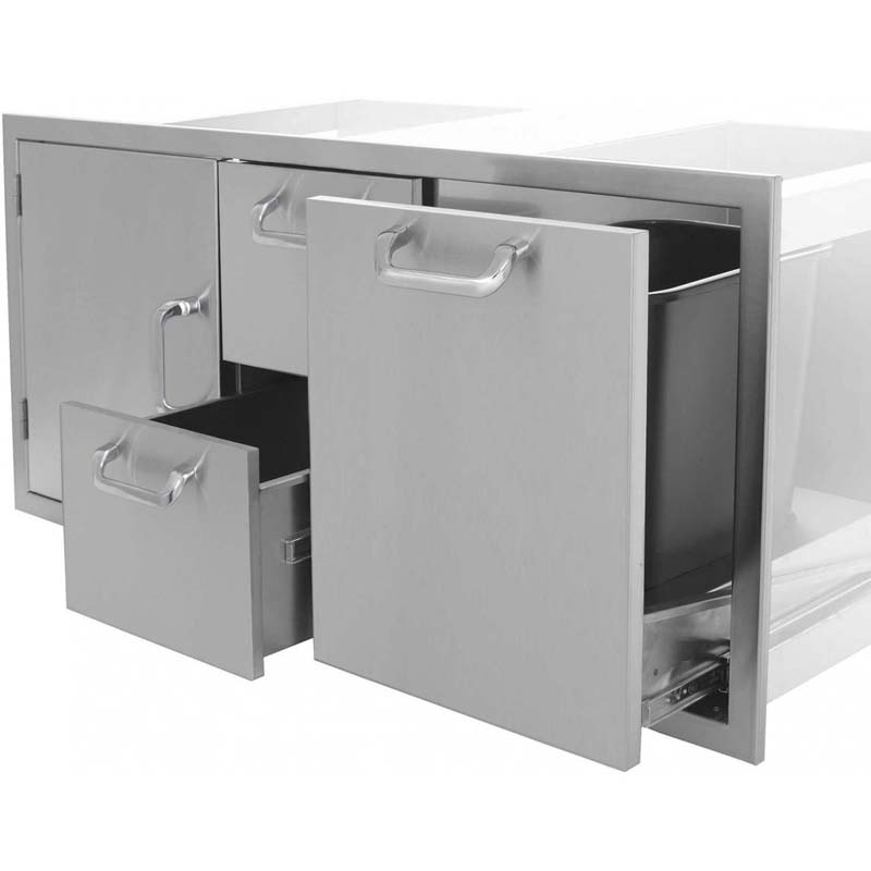 PCM Door/Double Drawer/Roll-Out Combo