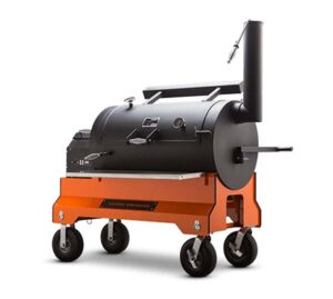 Yoder YS1500 Pellet Grill on Competition Cart