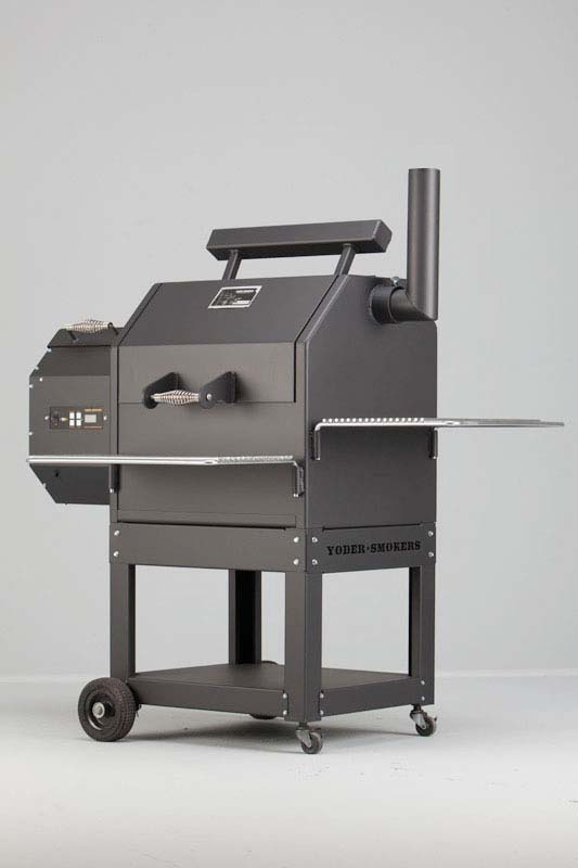 Yoder YS480 Pellet Grill on Patio Cart
